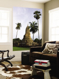 Wat Phra Si Ratana Mahathat Framed by Palms Wall Mural by Austin Bush