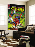 Spectacular Spider-Man No.114 Cover: Spider-Man, Captain Britain and Red Skull Wall Mural by Jon Haward