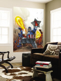 The New Invaders 2 Cover: Captain America Wall Mural by Scott Kolins