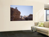 Desert Landscape with Donkey Rider on Ridge-Top Wall Mural by Simon Foale