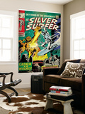Marvel Comics Retro: Silver Surfer Comic Book Cover No.12, Fighting the Abomination (aged) Wall Mural