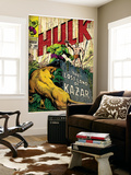 Marvel Comics Retro: The Incredible Hulk Comic Book Cover No.109, the Lost Land of Ka-Zar (aged) Wall Mural