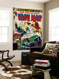 Marvel Comics Retro: The Invincible Iron Man Comic Book Cover No.124, Action in Atlantic City Premium Wall Mural