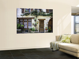 House Facade with Flowers in Lot Valley Premium Wall Mural by Barbara Van Zanten
