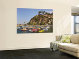 Boats Anchored in Catalina Harbor, Catalina Island, California, USA Mural por Adam Jones