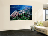 High Angle View of Kotor and Europe's Southernmost Fjord Wall Mural by Andrew Bain