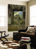 Rainbow Seen Through Temple of Three Windows Premium Wall Mural by Emily Riddell