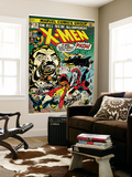 Marvel Comics Retro: The X-Men Comic Book Cover No.94, Colossus, Nightcrawler, Cyclops (aged) Wall Mural