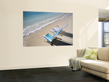 Beach Chairs on Shore Wall Mural by Micah Wright