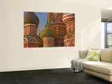 Coloured Walls and Domes of St Basils Cathedral (Pokrovsky Cathedral) in Red Square Wall Mural by Tim Makins