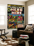 Marvel Comics Retro: Luke Cage, Hero for Hire Comic Book Cover No.5, Black Mariah! (aged) Wall Mural