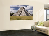 El Castillo, Pyramid of Kukulca Wall Mural by Dennis Johnson