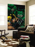 World War Hulk: X-Men No.2 Cover: Wolverine and Hulk Wall Mural by Ed McGuiness