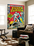 Marvel Comics Retro: Silver Surfer Comic Book Cover #17 (aged) Mural