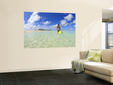 Rear View of Woman With Mask, Kadhdhoo Island, Laamu Atoll, Southern Maldives Wall Mural by Stuart Westmorland