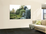 Philosopher Statue in Maruyama-Koen Wall Mural by Gerard Walker