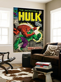Marvel Comics Retro: The Incredible Hulk Comic Book Cover No.106, Titan Rages (aged) Wall Mural