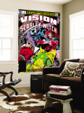 Vision And The Scarlet Witch No.3 Cover: Grim Reaper, Wonder Man, Vision and Scarlet Witch Wall Mural by Rick Leonardi
