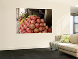 Pomegranates and Pomegranate Juice Vendor Wall Mural by Simon Foale