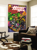 Heroes For Hire No.1 Cover: Cage, Luke, Iron Fist, Hulk and Black Knight Wall Mural by Pasqual Ferry