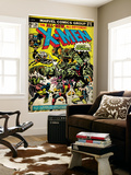 Marvel Comics Retro: The X-Men Comic Book Cover No.96, Fighting the Night Demon (aged) Wall Mural
