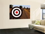 Archery Target on Country Road Wall Mural by Oliver Strewe