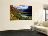 River Valley With View of Fisher Towers and La Sal Mountains, Utah, USA Wall Mural by Bernard Friel
