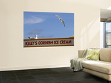 Ice-Cream Van and Seagulls Wall Mural by Doug McKinlay