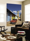 Old Classic Chevy on Cobblestone Street of Trinidad, Cuba Wall Mural by Bill Bachmann