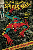 Marvel Comics Retro: The Amazing Spider-Man Comic Book Cover No.100, 100th Anniversary Issue (aged) Wall Mural