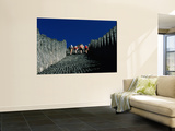 Hikers Climbing the Ancient Great Wall of China Wall Mural by Keren Su