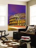 Colosseum and Traffic on Via Del Fori Imperiali Wall Mural by Richard l'Anson