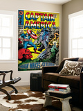 Marvel Comics Retro: Captain America Comic Book Cover No.101, Red Skull (aged) Wall Mural