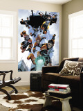 New X-Men: Academy X No.16 Group: Hellion, Moonstar, Quill, Surge, Synch and Wind Dancer Wall Mural by Aaron Lopresti