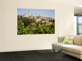 Towers of San Gimignano with Grapevines Producing Vernaccia Di San Gimignano Wine in Foreground Wall Mural by Olivier Cirendini