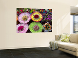 Elaborate Flower Arrangements at Flower Market Stall Wall Mural by Sally Dillon