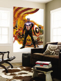 Captain America No.41 Cover: Captain America Charging Wall Mural by Steve Epting