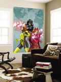 X-Men: First Class No.9 Cover: Scarlet Witch, Marvel Girl and Black Widow Wall Mural by Roger Cruz