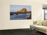 People in Natural Swimming Rock Pools and Ilheu Mole Island Wall Mural by Holger Leue