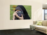 Iranian Girl with Camera Wall Mural by Holger Leue