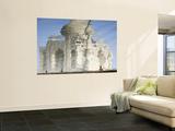 Reflection of Taj Mahal in Yamuna River Vægplakat af Michael Gebicki