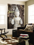 Khmer Statue at Royal Palace Wall Mural by Ariadne Van Zandbergen