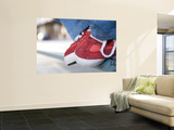 Red Tennis Shoes on Railing Wall Mural by Sabrina Dalbesio