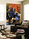 Ultimate War 3 Group: Thor and Captain America Wall Mural by Chris Bachalo