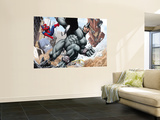 Spider-Man and Rhino Fighting - Battle Scene Wall Mural