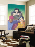 Jubilee 6 Cover: Jubilee and Wolverine Wall Mural by Casey Jones