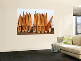 A Man Specially Employed to Lift Caballitos De Totora (Small Reed Boats) Wall Mural by Paul Kennedy