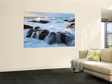 Waves Crashing O Rocks at Soberanes Wall Mural by Douglas Steakley