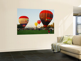 Hot-Air Balloon Festival at Old Parliament House Wall Mural by Simon Foale