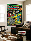 Marvel Comics Retro: Captain America Comic Book Cover No.178, with the Falcon (aged) Wall Mural